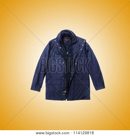 Male coat against the gradient