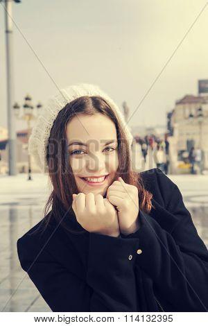 Girl In Urban City