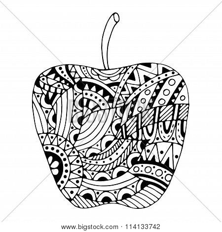 Zentangle Stylized Apple