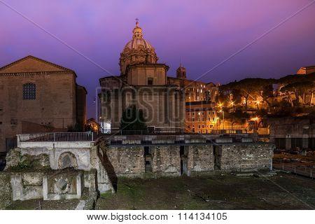 Rome, Italy: The Roman Forum, Santi Luca e Martina Church