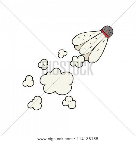 freehand drawn cartoon badminton shuttlecock