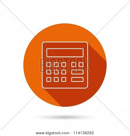 Calculator icon. Accounting sign.