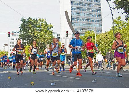 runners at Berlin Marathon 2014 at the Urania