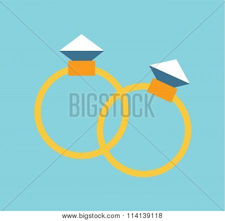 Wedding golden rings isolated on background