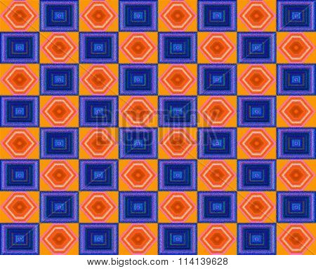 blue and orange pattern