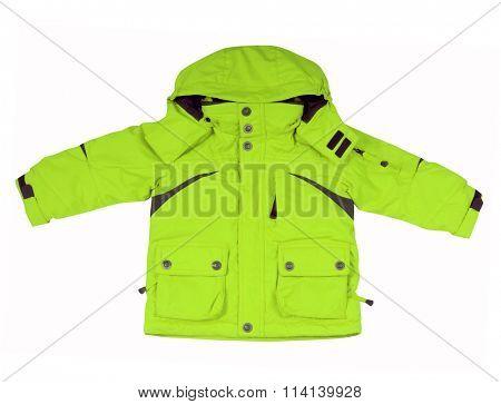 green jacket isolated on white background