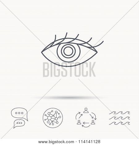 Eye icon. Human vision sign.