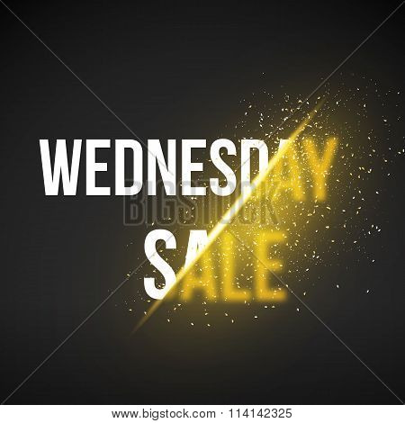 Wednesday Sale Energy Explosion Concept Vector Illustration. Wee