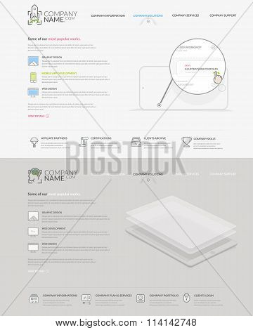 Website template elements