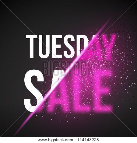 Tuesday Sale Energy Explosion Concept Vector Illustration. Week