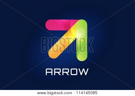 Arrow icon. Arrow abstract logo template. Up arrow, cursor arrow icon, arrowheads. Arrow marker and dynamic arrow symbol. Arrow isolated. Arrow logo. Arrow company logo