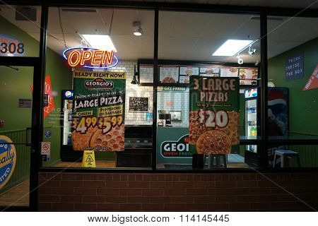 Georgio's Pizza on New Year's Eve