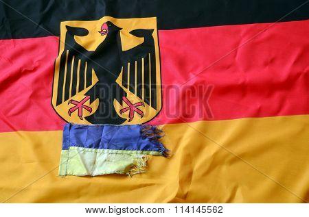 Partnership. Germany and Ukraine Flag