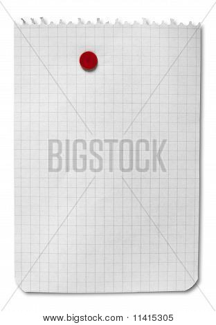 Blank Note Isolated With Clipping Path