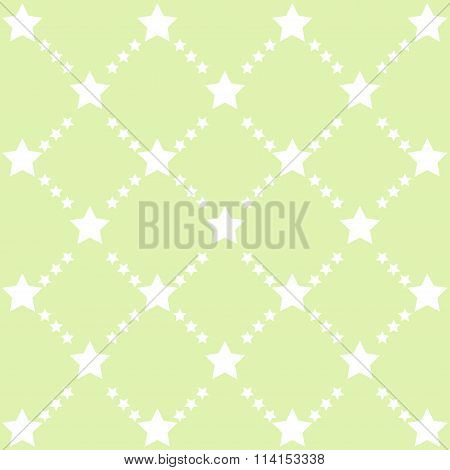 Green Stars Pattern Vector