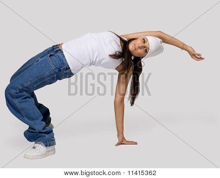 Young beauty girl dance hip hop