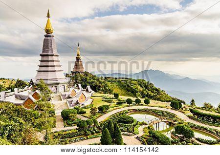 Landscape of two pagodas Noppamethanedol & Noppapol Phumsiri