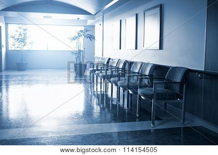 Empty Waiting Room In Modern Hospital