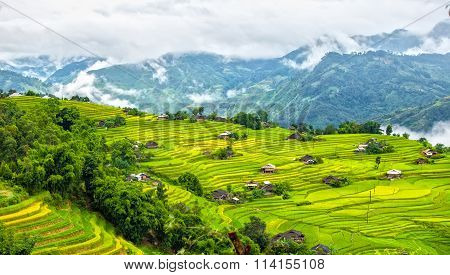 Corner of the hill villages of Ha Giang province, Vietnam