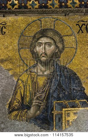 Mosaic Image of Jesus from Hagia Sophia Istanbul