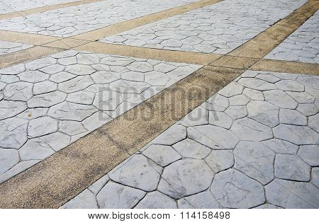 Floor With Pavement Tiles