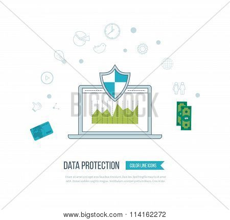 Social network security and data protection. Mobile marketing