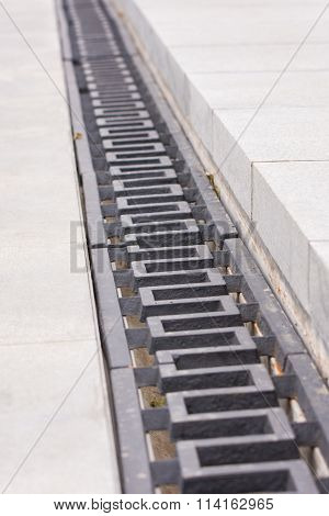 "A Drainage Grate On The Area Of Grief Historical Memorial Complex ""to Heroes Of The Battle Of S"