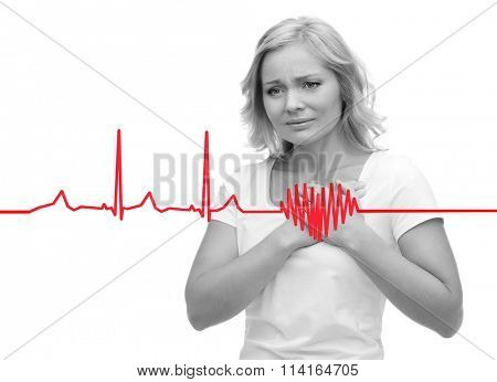 unhappy woman suffering from heartache