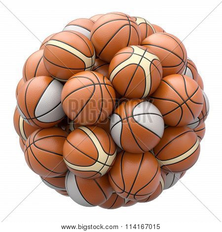 Basket balls isolated on white background
