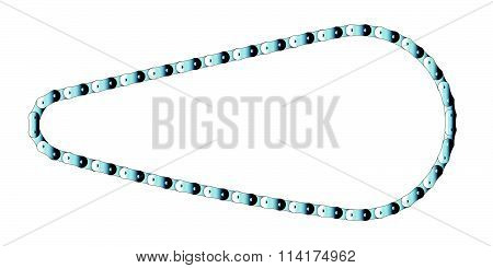 Isolated Bicycle Chain