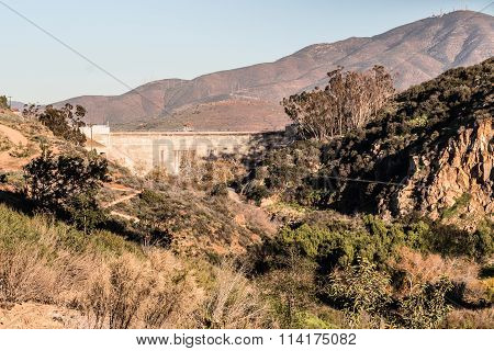 Sweetwater Dam in San Diego, California