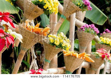 Flower And Corn Decoration Garden