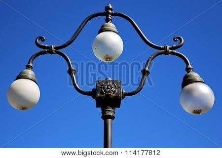 Street Lamp A Bulb In The   Sky Lugano Switzerland