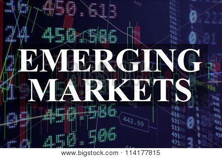 Words emerging markets  with the financial data.
