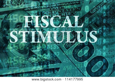 Words Fiscal stimulus  with the financial data.