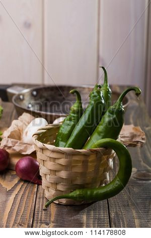 Whole Chilli Peppers With Vegetables