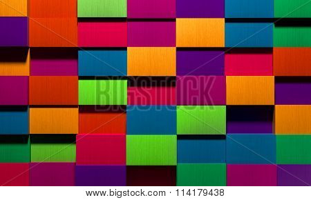 Vivid Multicolored Boxes Background