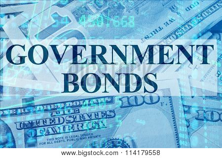 Words Government bonds  with the financial data.