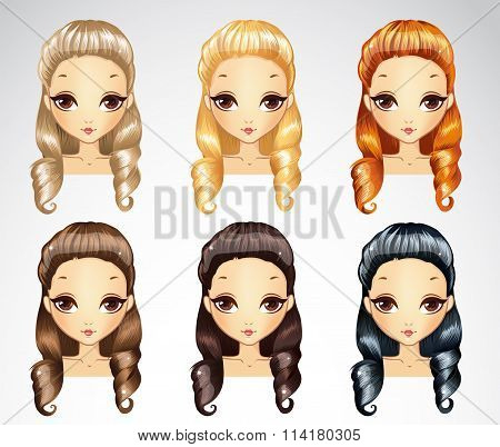 Fashion Princess Curls Hairstyle Set