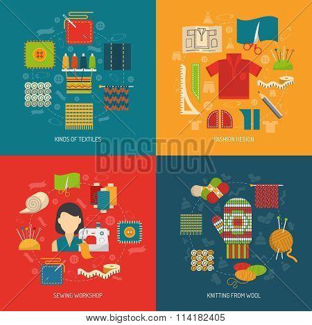 Textile concept set