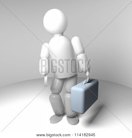 Puppet With Suitcase