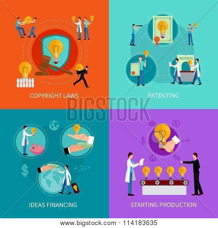 Intellectual property design  concept set