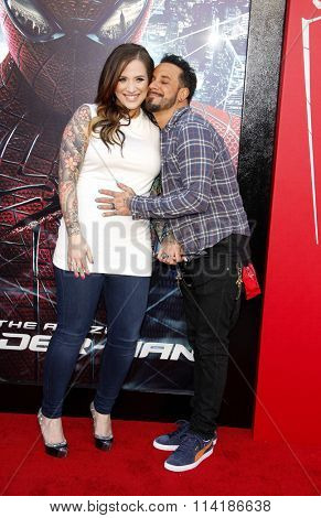 LOS ANGELES, CALIFORNIA - June 28, 2012. A.J. McLean and Rochelle DeAnna Karidis at the Los Angeles premiere of