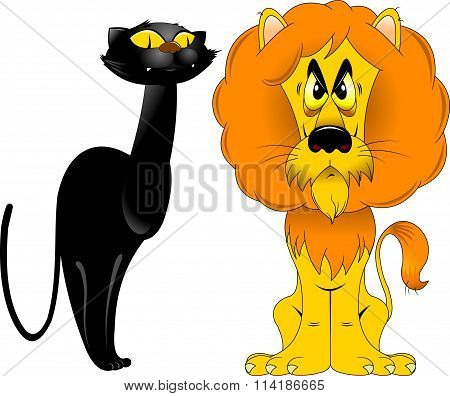 Lion And Panther