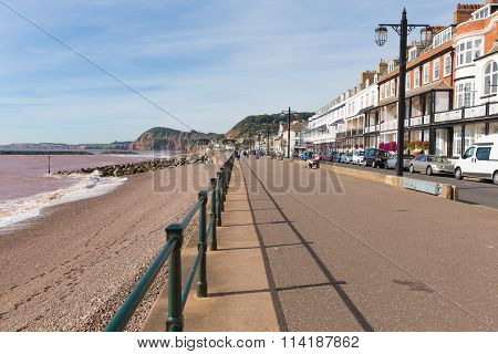 Promenade at Sidmouth Devon England UK late summer September sunshine