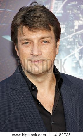 Nathan Fillion at the Los Angeles premiere of