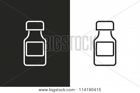 Medicine Bottle - Vector Icon.