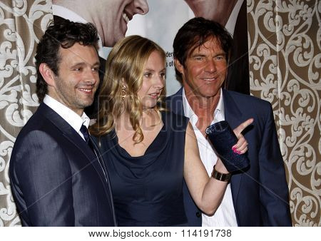 Michael Sheen, Hope Davis and Dennis Quaid at the Los Angeles Premiere of