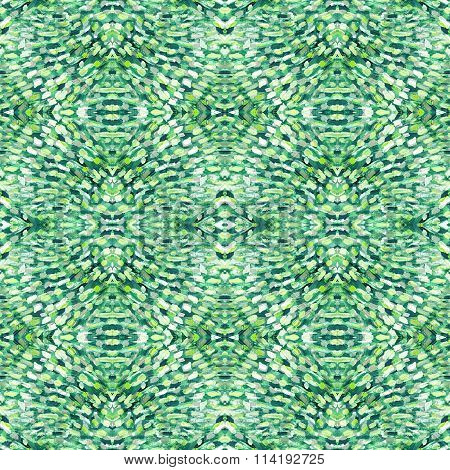 Small Pattern With Short Hand Drawn Strokes With Kaleidoscopic Effect. Seamless Texture.