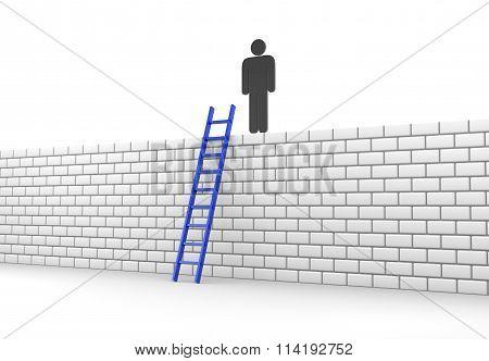 Stickman Climbs A Wall